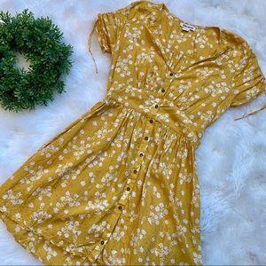 Billabong Yellow Floral Dress